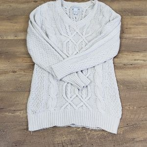 Soft Surroundings Thick cable knit sweater